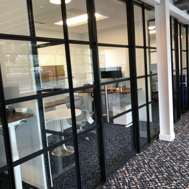 Industrial Demountable Glass Wall Partitions for and Investment Advisors Firm (7)