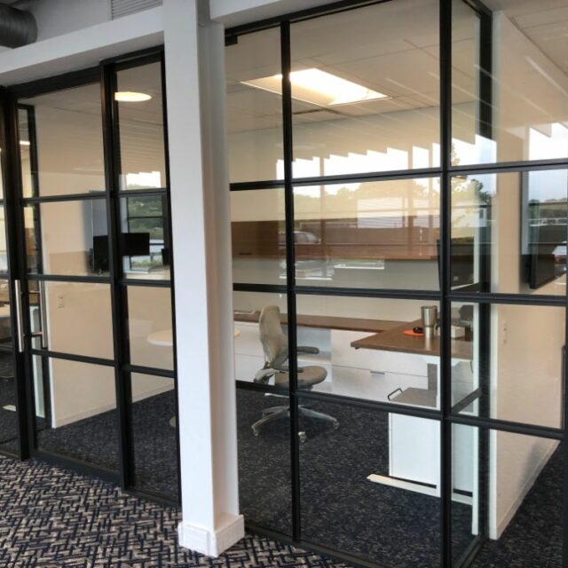 Industrial Demountable Glass Wall Partitions for and Investment Advisors Firm (8)
