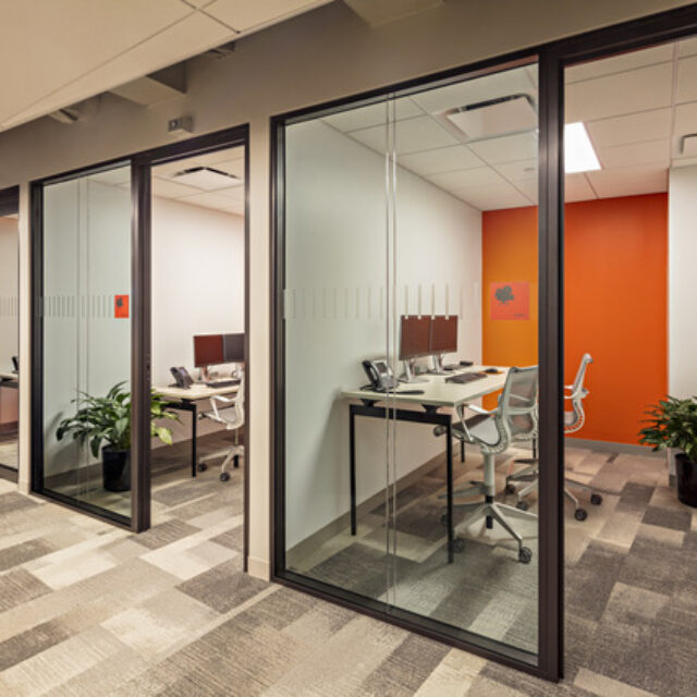 Demountable Glass Partition Walls for and Insurance Company (3)