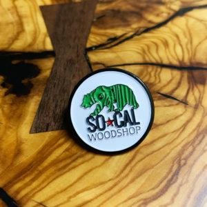 socal woodshop enamel pin