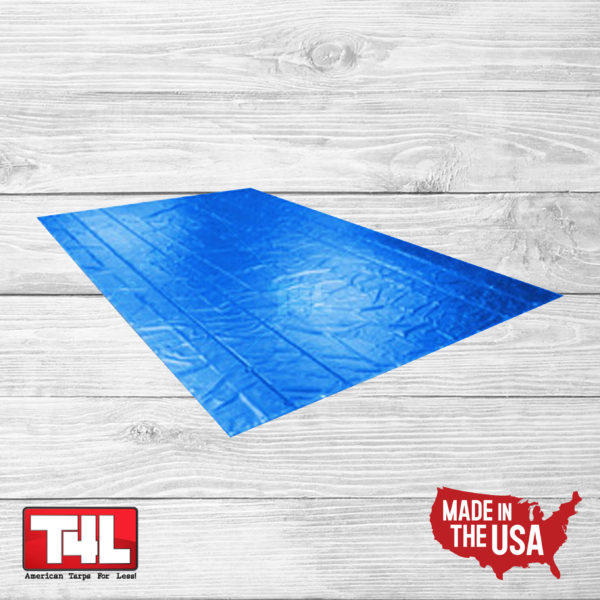 16′ X 25′ Steel Tarp 2 rows (18 oz.) blue