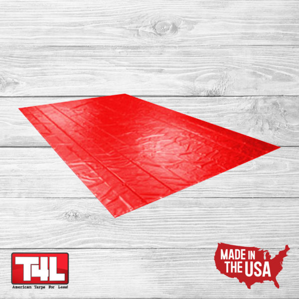 16′ X 25′ Steel Tarp 2 rows (18 oz.) red