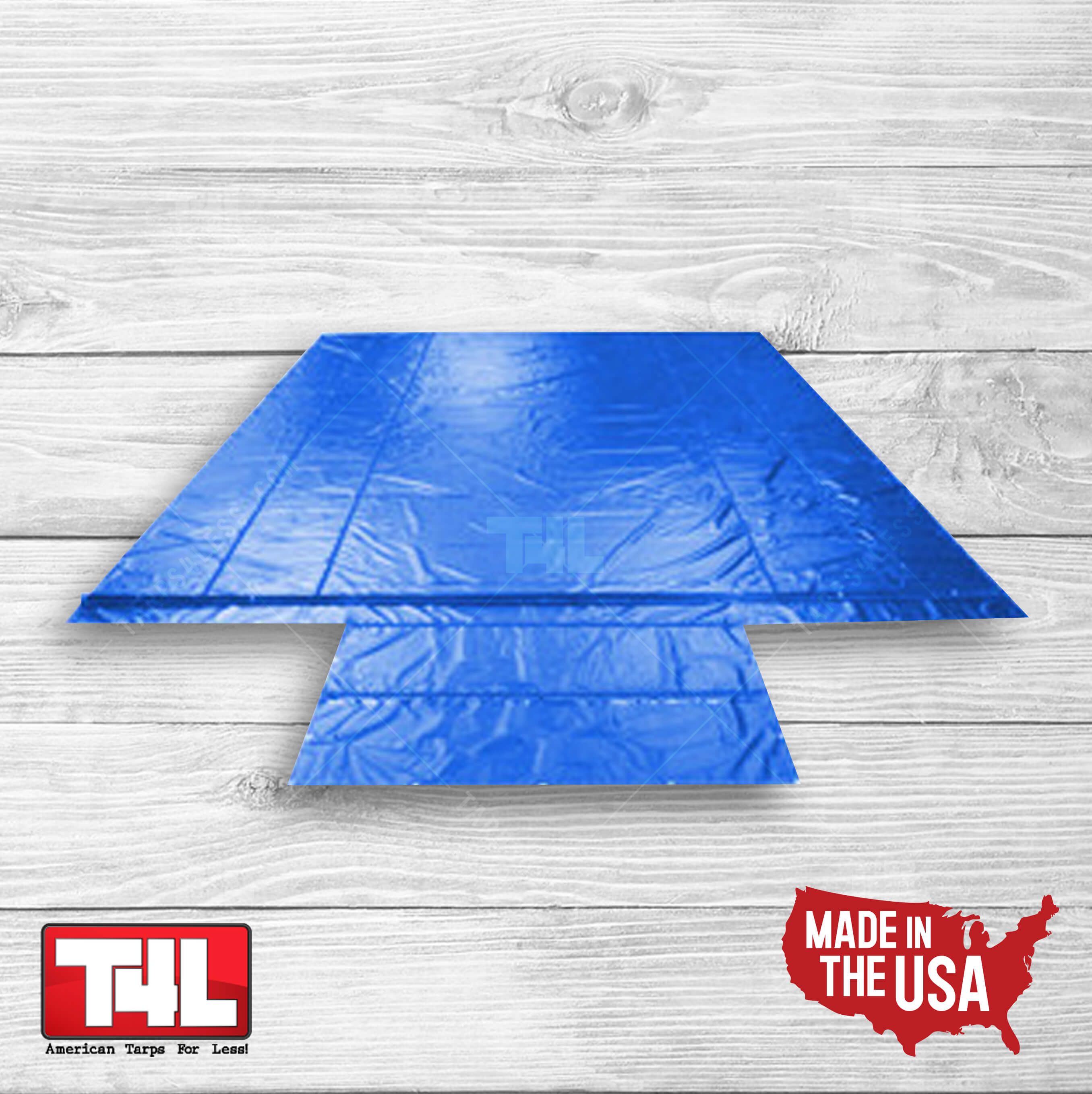 16′ X 25′ Steel Tarps w/end flap blue