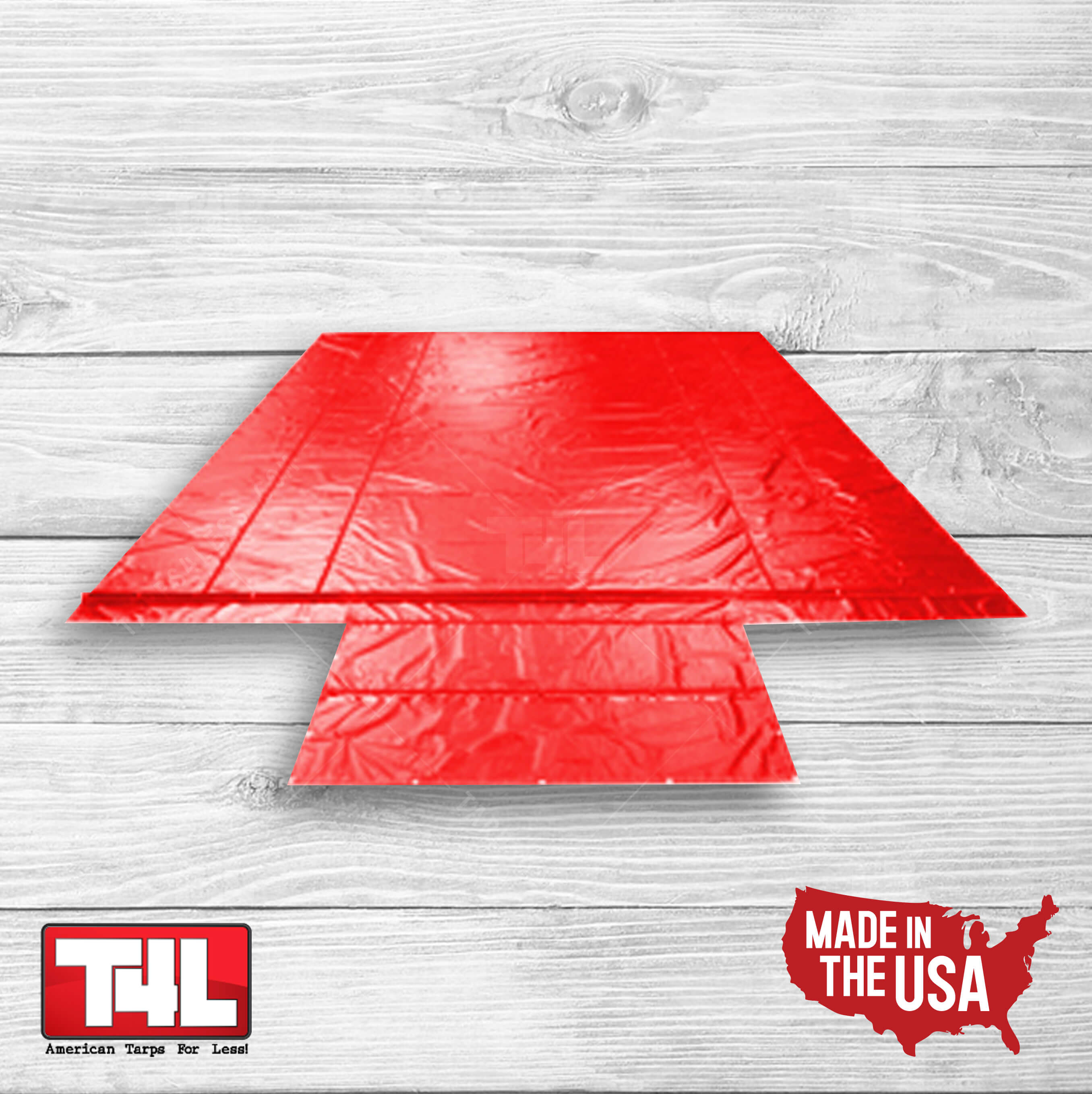 16′ X 25′ Steel Tarps w/end flap red