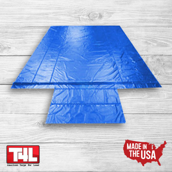 20′ x 26′ Wallboard Tarp – 2 rows (18 oz.) blue