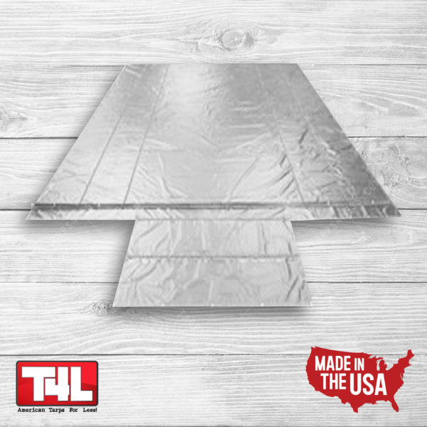 20′ x 26′ Wallboard Tarp – 2 rows (18 oz.) grey