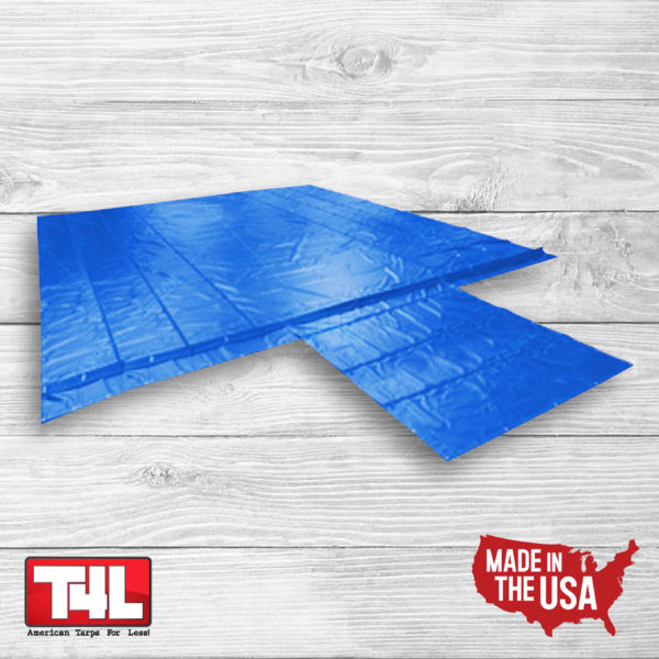 24' X 26' Lumber Tarp - 3 rows (18 oz.) blue