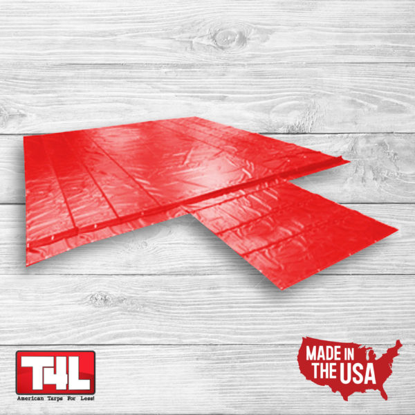 24' X 26' Lumber Tarp - 3 rows (18 oz.) red