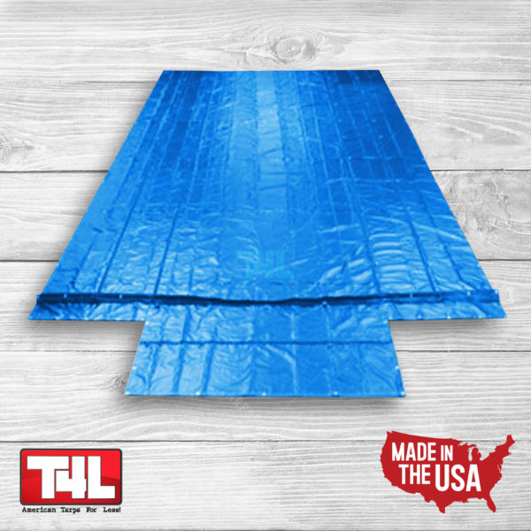 26' x 26' Machinery Tarp (9' DROP) blue