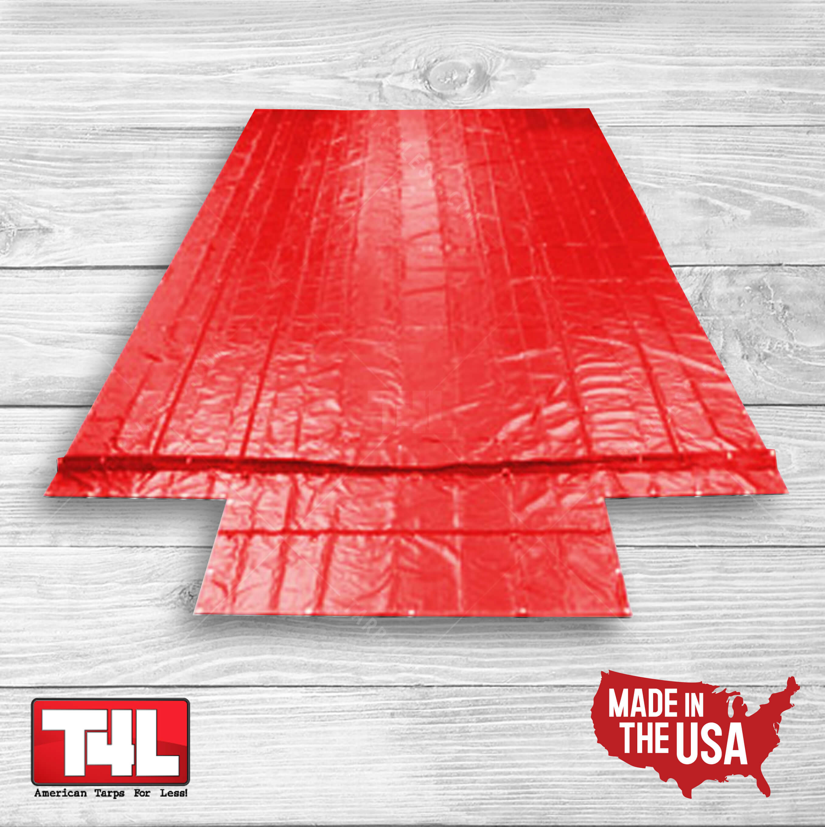 26' x 26' Machinery Tarp (9' DROP) red