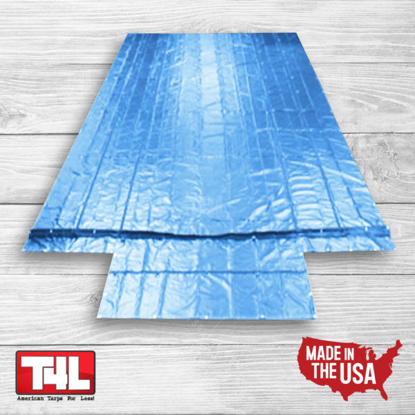 28' x 26' Machinery Tarp (10' Drop) blue
