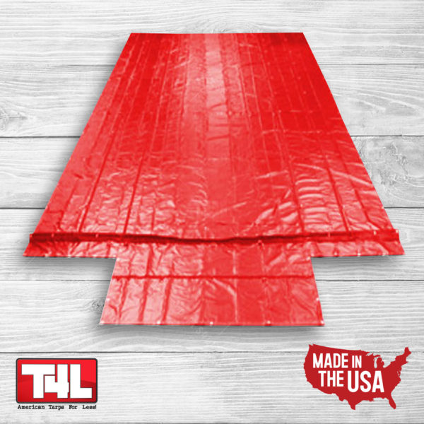 28' x 26' Machinery Tarp (10' Drop) red