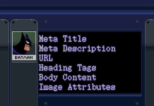 Onpage SEO Attributes: Meta Title Meta Description URL Heading Tags Body Content Image Attributes