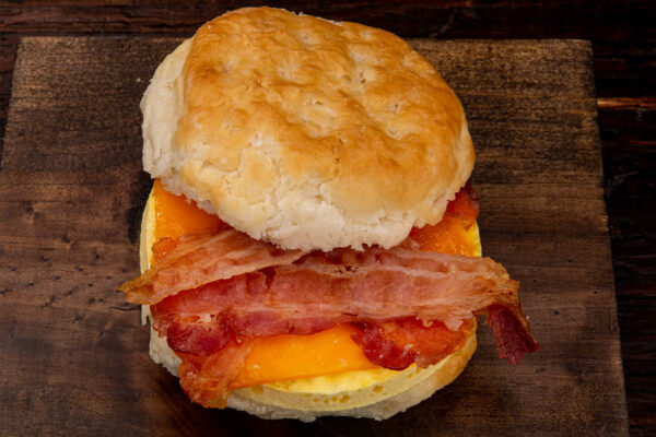 Bacon Egg Cheddar Biscuit