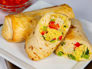 Vegetable patato & Egg Burrito