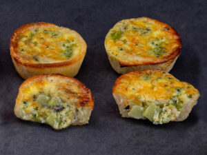 Mini Quiches - Broccoli & Aged Cheddar