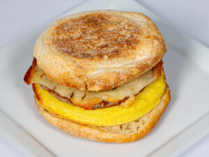 Breakfast Sandwich – Sausage, Egg and Cheese on Biscuit