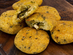 Arepas with Green Chili