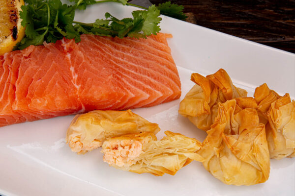 Phyllo - Salmon & Goat Cheese Pouch