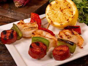 Skewer - Shrimp and Andouille Brochette
