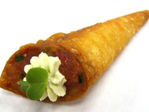 Ahi Tartare Spring Roll Cone