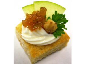 Vegetarian - Brie with Sliced Apple and Walnut Chutney