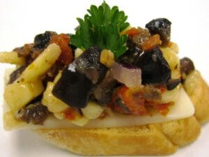 Vegetarian - Manchego Cheese and Black Olive Tapenade