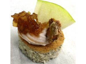 Vegetarian - Prickly Pear Goat Cheese with Apple Chutney