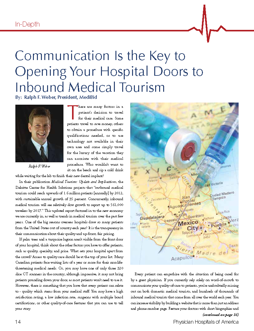 Communication Is the Key To Opening Your Hospital Doors To Inbound Medical Tourism