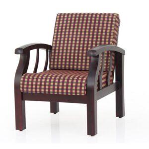 Garnet wooden single sofa