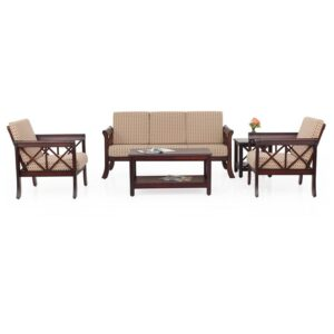 Ruby Wooden Sofa – 3-1-1 Set Jfa Furniture