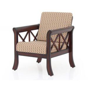 Ruby wooden single sofa