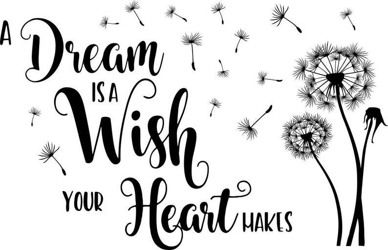 44 Marketplace Dream Is A Wish Your Heart Makes Stencil