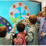 children using Interactive Panel
