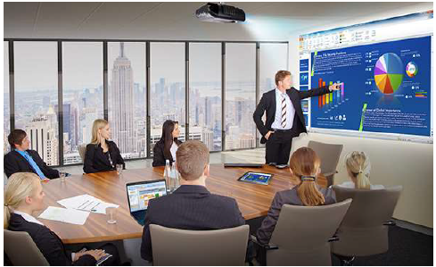 Board Meeting Laser projector screen
