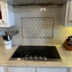Tile Splash with Quartzite