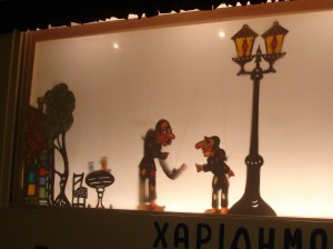 Athens shadow puppet workshop in Thisseio