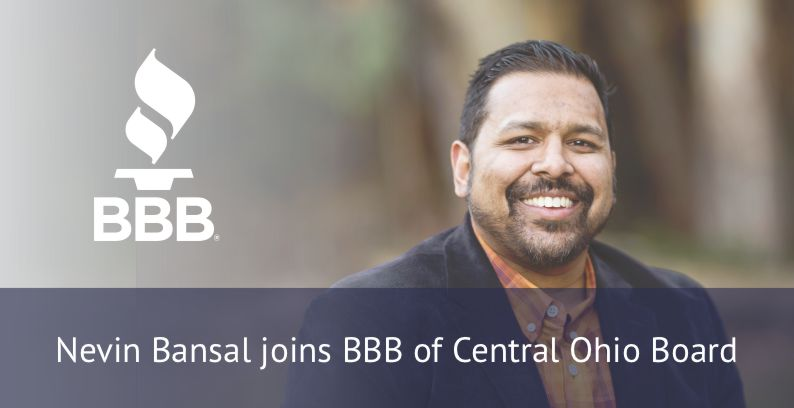 Nevin Bansal Joins BBB Of Central Ohio Board