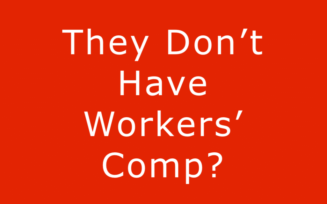 employer does not have workers' compensation