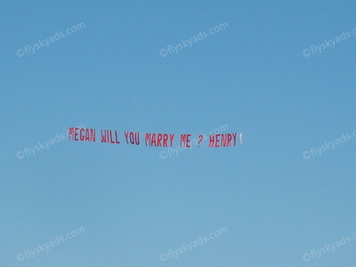 will you marry me sky banner nj