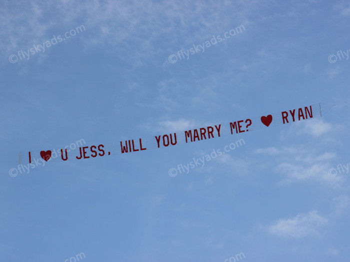 will you marry me aerial billboard nj