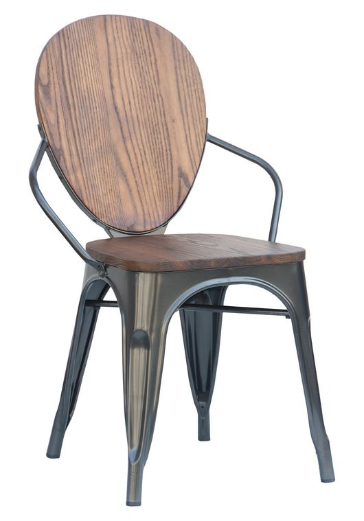 Charcoal Mixed Material Dining Chair (2400002)