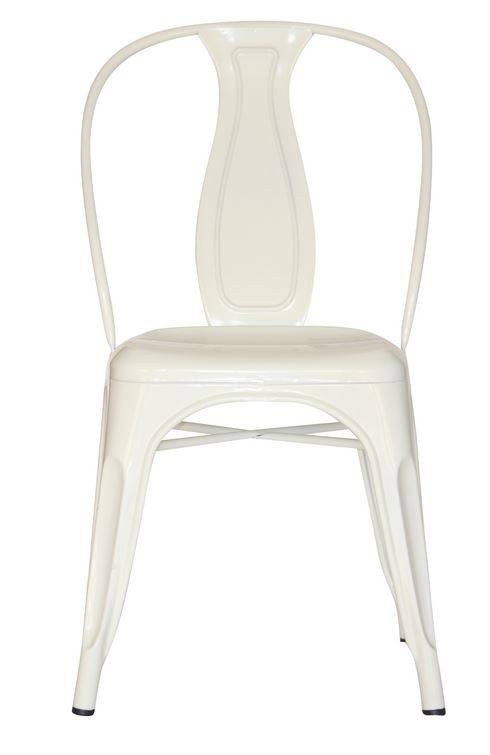White Industrial Dining Chair (2400204)