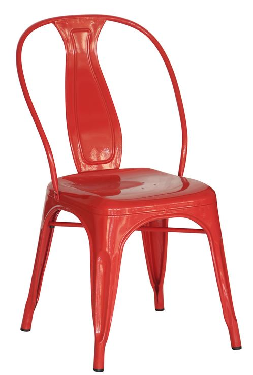 Red Industrial Dining Chair (2400404)