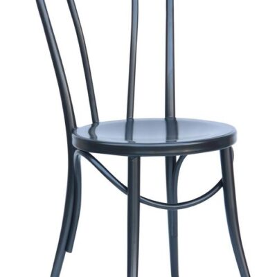 Bistro dining chair in black