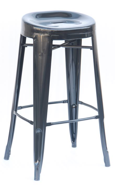 Contoured 29″ Bar Stool: Black (2430804)