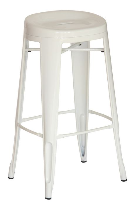White Contoured 29″ Bar Stool (2431004)