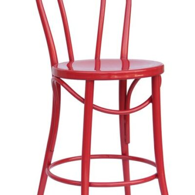 "Bistro 24"" counter stool in red"