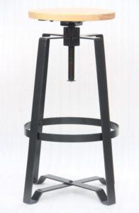 Mixed Material Adjustable Bar Stool  (2431802)