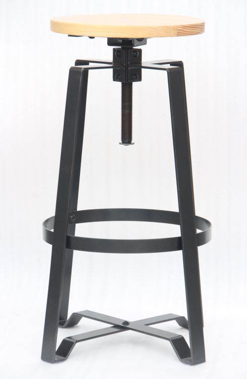 Mixed Material Adjustable Bar Stool